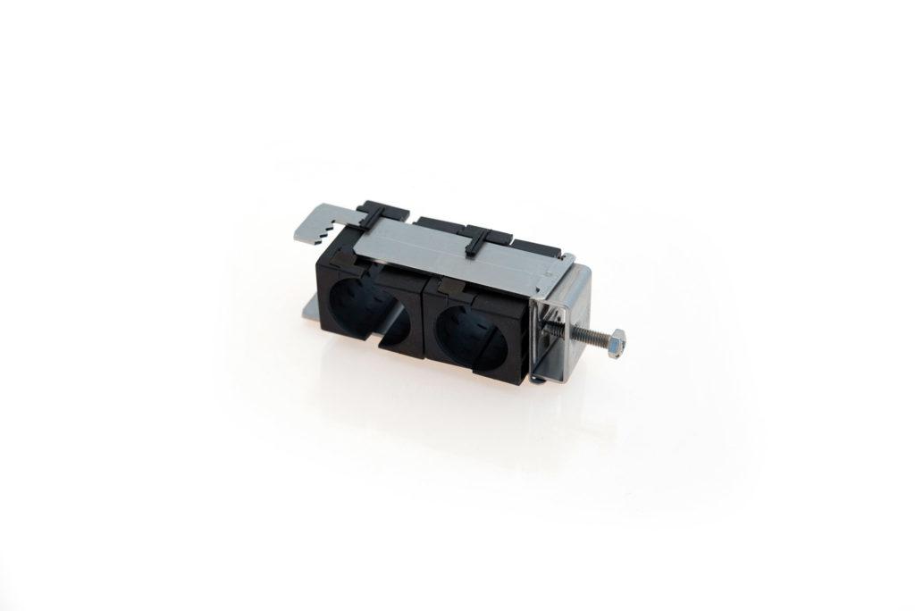 RF B Fixation double pour plat ou rond de 3 à 12mm