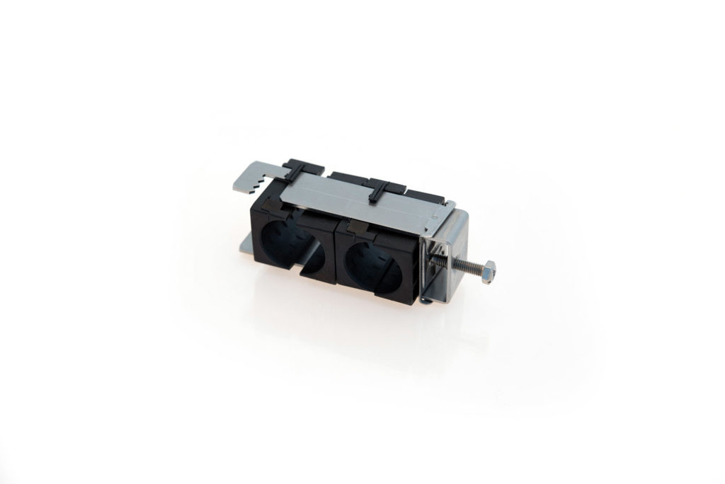 RF M Fixation double pour plat ou rond de 8 à 25mm